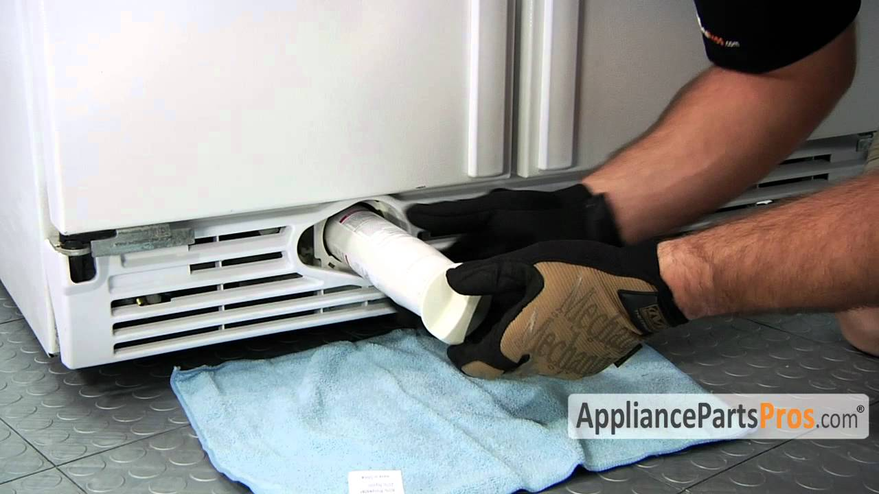 Refrigerator Water Filter In Grille How To Replace