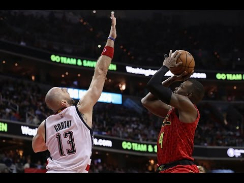 Paul Millsap and Dennis Schroder Battle Down To The Wire For the Hawks | April 28, 2017