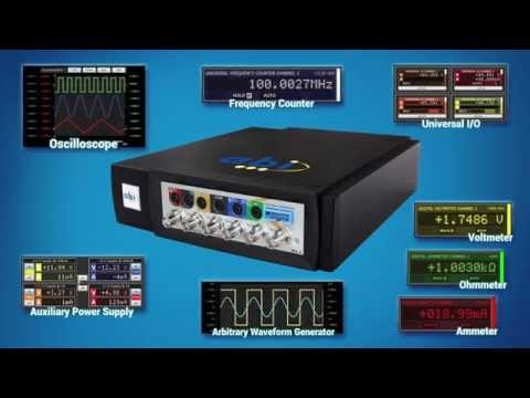 8 Measurement Instruments in 1 Module! ABI's cost-effective virtualbench