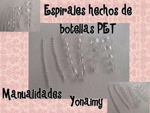 ESPIRALES HECHOS CON BOTELLAS RECICLABLES PET
