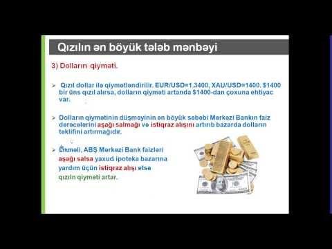 Web Seminar - Qızıl və Neft qiymətləri nəyə əsasən hərəkət edir? / Şaiq Hüseynov