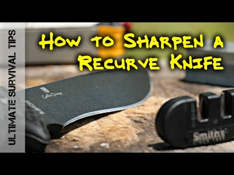 HOW to SHARPEN a RE-CURVE KNIFE BLADE - LIKE a BOSS!!!!