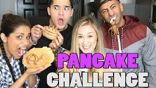 PANCAKE ART CHALLENGE! ft. SuperWoman | FouseyTube | LaurDIY