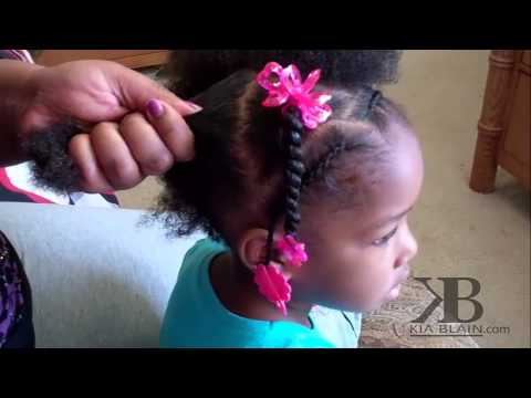 Cute Girls Hairstyles - Natural Hair Ponytails - YouTube