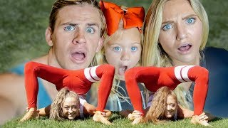 PROFESSIONAL TWIN GYMNAST TEACH US HILARIOUS YOGA POSES!!! (IMPOSSIBLE)