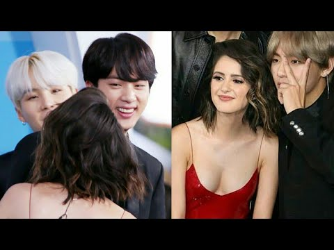 Bts V jin rm cute moments with a girls  at AMAs (btsxAMAs)