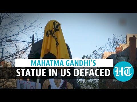 Mahatma Gandhi's statue defaced in US by Khalistanis