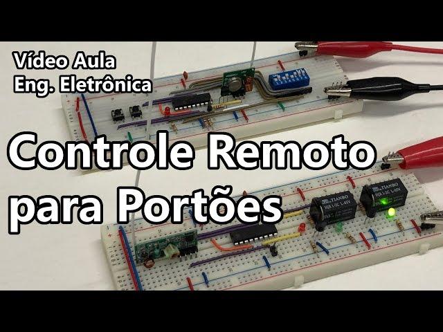CONSTRUA UM CONTROLE REMOTO CODIFICADO PARA PORTÕES | Vídeo Aula #324