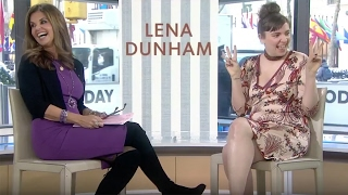 "Lena Dunham Says ""P****"" on the Today Show, Matt Lauer Walks Off!"