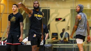 New LeBron James Lakers Workout