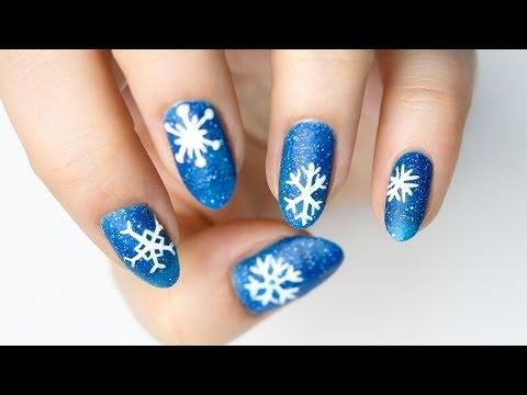 ❄️ Płatki śniegu na paznokciach ❄️ Red Lipstick Monster ❄️