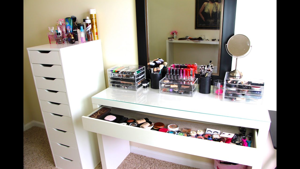 Makeup Collection Amp Storage Updated Casey Holmes Youtube