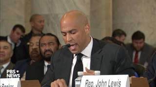 Sen. Cory Booker breaks Senate tradition, testifies against Sen. Jeff Sessions