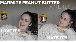 MARMITE PEANUT BUTTER TASTE TEST // do I love it or hate it?!