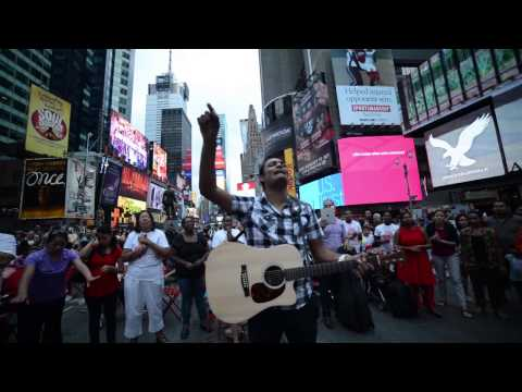 Marcos Brunet & Delki Rosso @ New York - TOMA TU LUGAR CON DANZA & ADORACION Publica @ Times Square