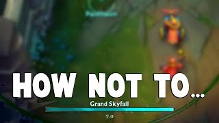 Here's An Example How YOU SHOULDN'T USE PANTHEON ULT...   Funny LoL Series #414