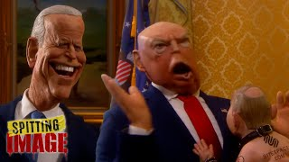 Donald Trump Leaves The White House | Spitting Image