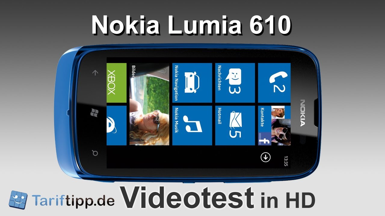 Nokia Lumia 610 in the Test