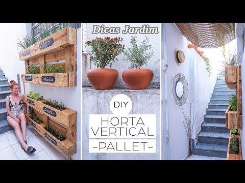 DIY Jardim / Horta Vertical , transformando cantinho da casa !