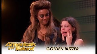 Courtney Hadwin: Shy Schoolgirl SHOCKS The Judges Gets GOLDEN BUZZER!! | America's Got Talent 2018