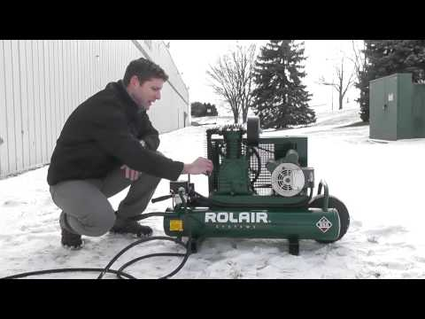 video Rolair 1.5 HP 9 Gallon Electric Wheelbarrow Air Compressor 6715K17
