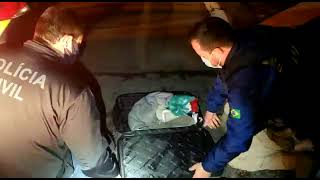 PRF e Polícia Civil prendem homem com mais de 10 quilos de maconha na BR-116, em Pelotas
