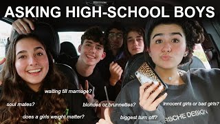 asking high-school boys questions girls are too afraid to ask... (part 2)