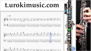 หัดเล่นโอโบ Lukas Graham - 7 Years ตัวโน๊ต สอนเล่นโอโบ ส่วนที่ 1 การปฏิบัติ บันไดเสียง um-i796