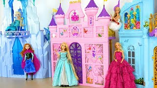 Princess Barbie doll Pink Royal Castle - Mermaid Bedroom Putri Barbie Istana Princesa Castelo