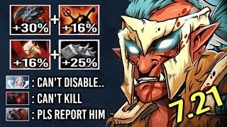 EPIC +46% Status Res 41% Bash Troll vs Hard Ursa Max Attack Speed Build Crazy Lifesteal 7.21 Dota 2