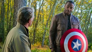 Captain America Gives Shield to Falcon -