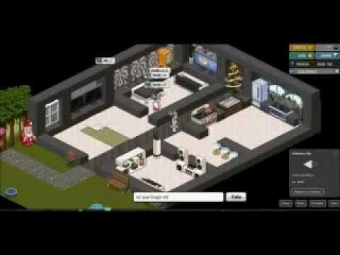Como construir casa moderna en habbo youtube for Casa moderna haddoz