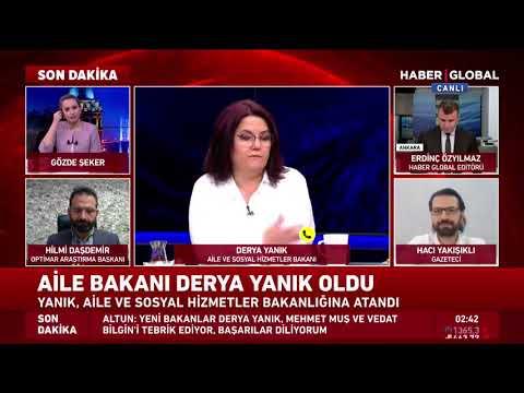 Yeni Aile ve Sosyal Hizmetler Bakanı Derya Yanık Haber Global'e Konuştu