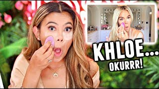 I tried following a Khloé Kardashian Makeup Tutorial... Okurr😂...