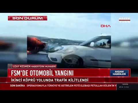 Fatih Sultan Mehmet Köprüsü'nde otomobil yangını…