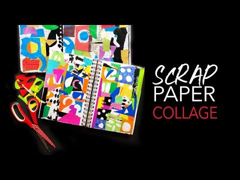 scrap paper collage