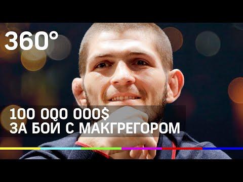 Хабиб Нурмагомедов сразится с Макгрегором только за 100 млн $
