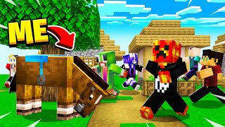 Minecraft, BUT You're Being HUNTED By 100 Players!