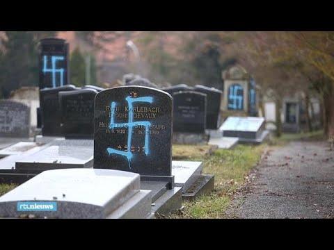 Hakenkruizen gespoten op tachtig Joodse graven in Frankrijk - RTL NIEUWS