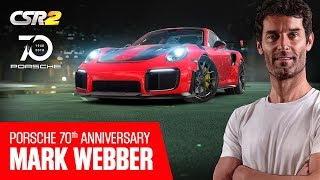 Porsche brand ambassador Mark Webber and the GT2 RS in CSR2