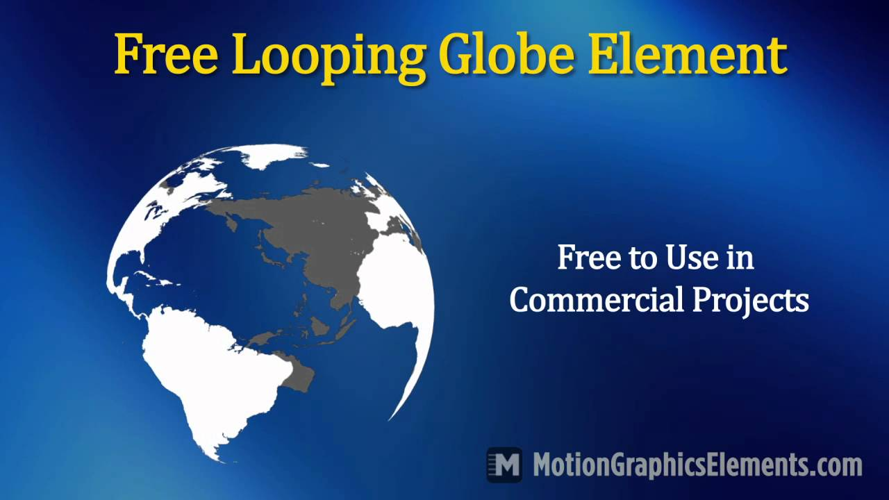 Free Looping Animated Globe Video Element - YouTube