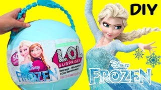 Elsa and Anna Yay ! Toys and Dolls Fun for Kids with *Customized* LOL Big Surprise & Blind Bags