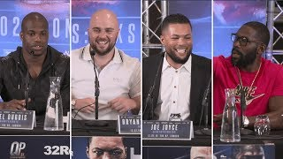 Things get heated! Daniel Dubois v Nathan Gorman and Joe Joyce v Bryant Jennings press conference