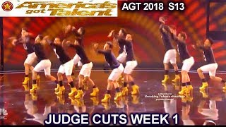 Junior New System JNS FILIPINO Dance Group in High Heels America's Got Talent 2018 Judge Cuts 1 AGT