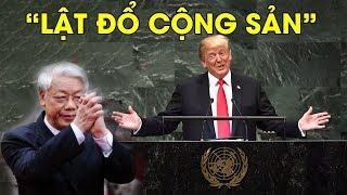 Tổng thống Mỹ Donald Trump tuyên bố tại Liên Hiệp Quốc toàn lực LẬ.T Đ-Ổ cộng sản #VoteTv