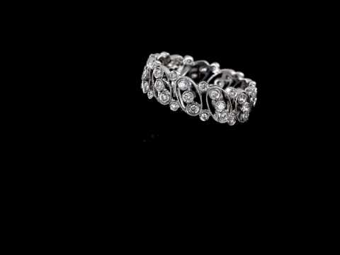 Browns Family Jewellers White Gold And Diamond Eternity Ring