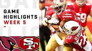 Cardinals vs. 49ers Week 5 Highlights | NFL 2018