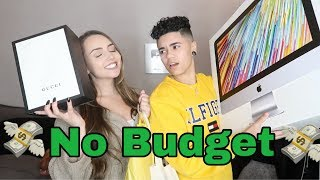 GIRLFRIEND DOES THE NO BUDGET SHOPPING CHALLENGE!!!