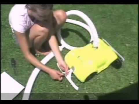 robot piscine hors sol intex venturi en action youtube. Black Bedroom Furniture Sets. Home Design Ideas