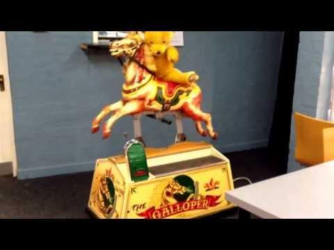 Teddy riding 'The Galloper'